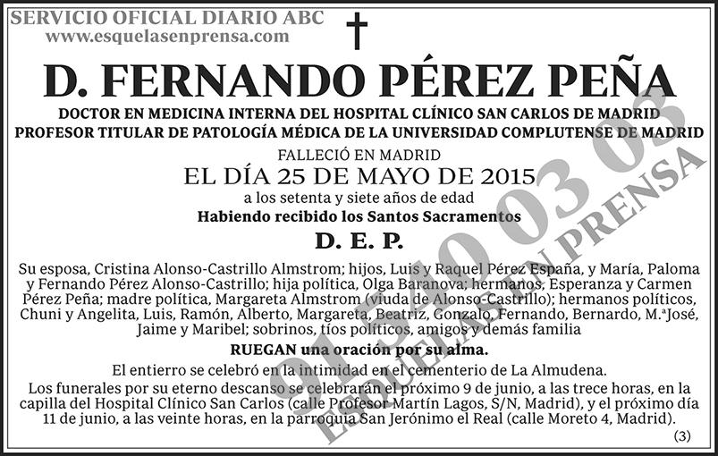 Fernando Pérez Peña